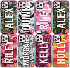 Nombre Personalizado Camuflaje Diseños Impacto Funda de Teléfono para iPhone | Personalizadas N
