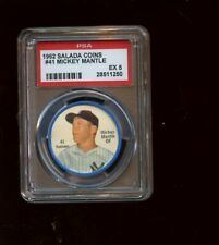 1962 Salada Baseball Coin #41 Mickey Mantle New York Yankees PSA 5 EX