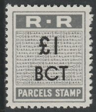 Rhodesia (666) 1951 RAILWAY PARCEL STAMP £1 opt'd BCT for Bancroft u/m