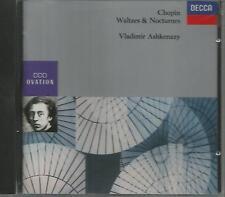 CHOPIN - WALTZES NOCTURNES - ASHKENAZY (430 751-2) GERMANY CD FULL SILVER N/MINT