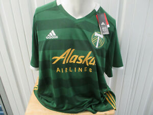 ADIDAS MLS PORTLAND TIMBERS 2XL SEWN GREEN GOLD JERSEY 2018/21 KIT NEW W/ TAGS