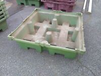 Ultra-Tech Spill King Containment Sump for Drum Pallets No Drain 85 Gallon