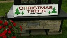 Christmas Trees For Sale Sign Large Distressed Wood Primitive Christmas Decor