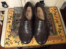 Clarks Collection Soft Cushion  Women's  Size 8 M  Brown Leather Slip-On Shoes