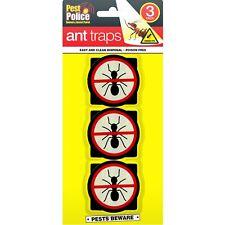 3pc Pre Baited Bait Station Glue Ant Trap Killer Nest Stop Pest Colony Outdoor