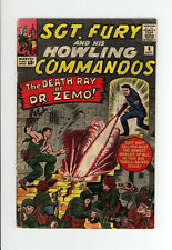 SGT. FURY And His HOWLING COMMANDOS #8 - GREAT JACK KIRBY COVER & ART - 1964