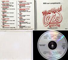 JACKSON MI+SADE+EUROPE+VA 1987 US SONY PROMO RADIO STATION SAMPLER CD