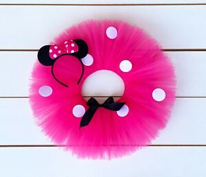 Cake Smash Outfit - Hot Pink Minnie Mouse First Birthday Tutu Set - Baby Girl