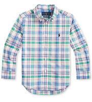 Polo Ralph Lauren Boys Long-Sleeve Plaid Poplin Shirt Little Kid, Multicolor NWT