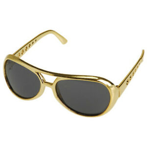 Elvis Sunglasses Costume Gold Glasses King Rock And Roll Las Vegas Star Gift