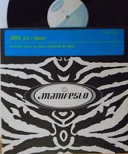 "JBN ~ All I Want Mark O Tool & Mr Bishi MIXES ~ 12"" Single PS"