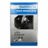 NEW Shimano Acera RD-M360-SGS 7/8-Speed MTB Rear Derailleur Long Cage - Silver
