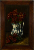 D.M. Gracey - Framed Early 20th Century Oil, Floral Still Life in Spode Jug
