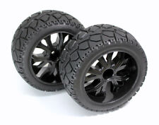 Absima 1:10 RC Car / Truggy / Buggy Wheels Tires on road black 12mm hex Set of 2