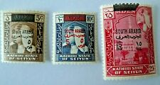ADEN SOUTH ARABIA ON KATHIRI STATE OF SEYUN STAMPS # 29-30 AND 32 MH