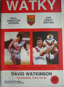 Hull KR Rugby League David Watkinson Testimonial Brochure (1987-88)