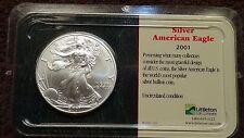 American Silver-Eagle 2001 .999 in Littleton plastic case lot 111