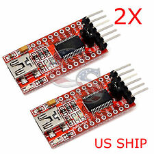 2X FT232RL FTDI USB 3.3V 5.5V to TTL Serial Adapter Module for Arduino Mini Port