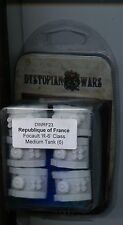 Dystopian Wars Republique of France Focault R-6 Class Medium Tank (6) MINT