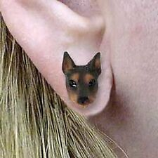 Conversation Concepts Doberman Pinscher Red w/Cropped Ears Earrings Post