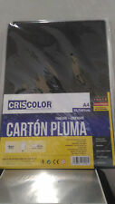 Lamina de carton pluma negro para manualidades A4 29,7 x 21cm y 5 mm grosor