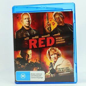 RED Bruce Willis Morgan Freeman John Malkovich Helen Mirren Blu Ray RB