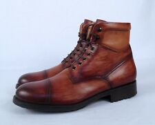 Magnanni Cap Toe Boot- Cognac- Size 9.5 M  $435  (B23)