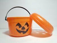 Vintage McDonalds Halloween Pumpkin Trick or Treat Pail Bucket Ben Cooper 80s