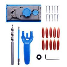 Drill Guide Jig Pocket Hole System Woodworking Tool Kit Wood Joinery 25PCS HS