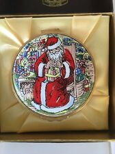 Kingsley Enamels Rare Enamel Santa Christmas Box.