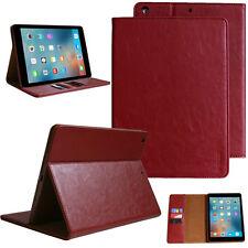 Echt Leder Schutzhülle für Apple iPad Air 1 Tablet Tasche Cover Smart Case rot