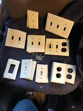 Mixed Lot Of Twenty Eight (28) Pre-Owned Almond Wall Plates With Screws-Awesome*