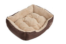 Dog Bed Pet Puppy Faux Fur Fleece Washable Deluxe Cushion S M L XL XXL Easipet