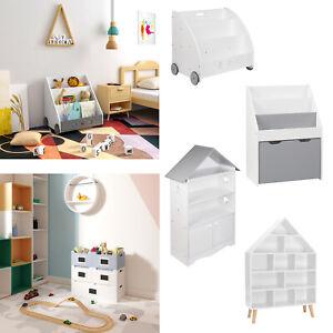 Kinder Bücherregal Standregal Kinderregal für Kinder Spielzeug-Organizer #2310