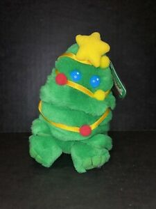 New PUFFKINS by Swibco TWINKLE the CHRISTMAS TREE Plush BEANIE Collectible