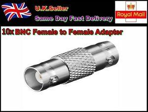 10 x CCTV Camera  BNC Female Plug to Female Connector Adaptor
