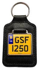 GSF 1250 Reg Number Plate Leather Keyring Gift for Suzuki GSF1250 Bandit NOS