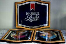 Michelob Light Beer Advertising Signs Backbar Mirror System 1983 Retro 80's Hair