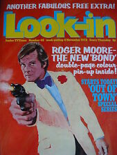 LOOK-IN MAGAZINE 4TH NOV 1972 - ROGER MOORE - JAMES BOND