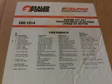 Engine Full Gasket Set-Kit Gasket Set Sealed Power 260-1014