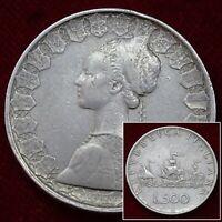 Italy 500 Lire 1959 R Silver Coin