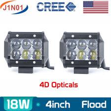 "2X 4"" 18W CREE LED Work Light Bar Offroad Led Flood Light 12V SUV Fog Driving 4D"