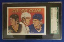 Wayne Gretzky Mario Lemieux Brett Hull U.D 50/50 CLUB SGC 98 Gem Mint 10 All HOF
