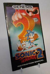 Sonic The Hedgehog 2 Sega Genesis Instruction Manual - no game