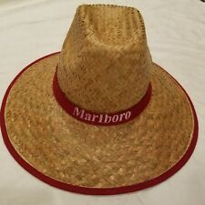 Marlboro Branded Straw Cowboy Hat One Size Fits All Mens Vintage Rare Red Cigar