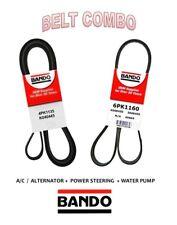 BANDO 2 Pcs Belts Kit  Alt-A/C-Pwr DODGE RAM PRO MASTER 2500 3.0L L4 2014