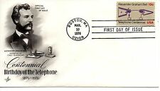 US FDC #1683 Telephone, ArtCraft Variety 2, O (Of) Over 18 (7404)