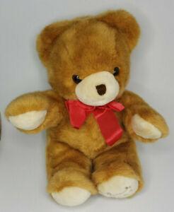 "1991 Harrods Christmas 17"" Large Teddy Bear Stuffed Plush Toy Nice (U46)"