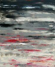 """TABLEAU ABSTRAIT original signé HZEN, Peinture/toile, PAYSAGE, """"HIER SOIR"""" 60x73"""