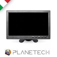 """MONITOR 10.1"""" POLLICI FULL HD 1080p COLORI HDMI LCD VGA BNC VIDEOSORVEGLIANZA"""